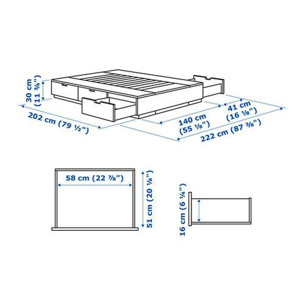 Ikea Bett Nordli 140x200 Zuhause