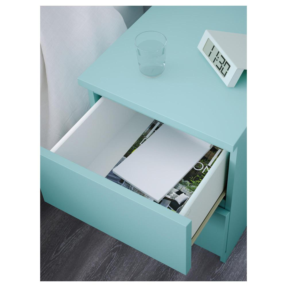 Malm Chest Of Drawers 2 Bright Turquoise