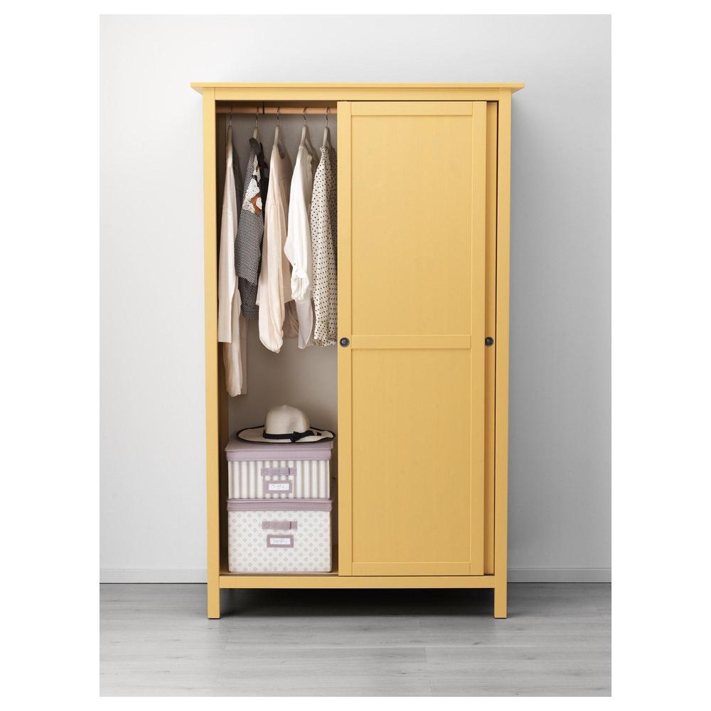 Catalogo Ikea Armadi Ante Scorrevoli.Hemnes Armadio Con Ante Scorrevoli 2 Giallo 403 697 84