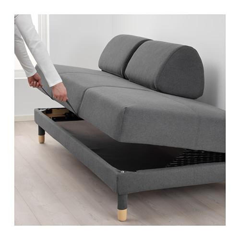 Fantastic Flottebo Sofa Bed Gray Black 492 273 04 Reviews Price Bralicious Painted Fabric Chair Ideas Braliciousco
