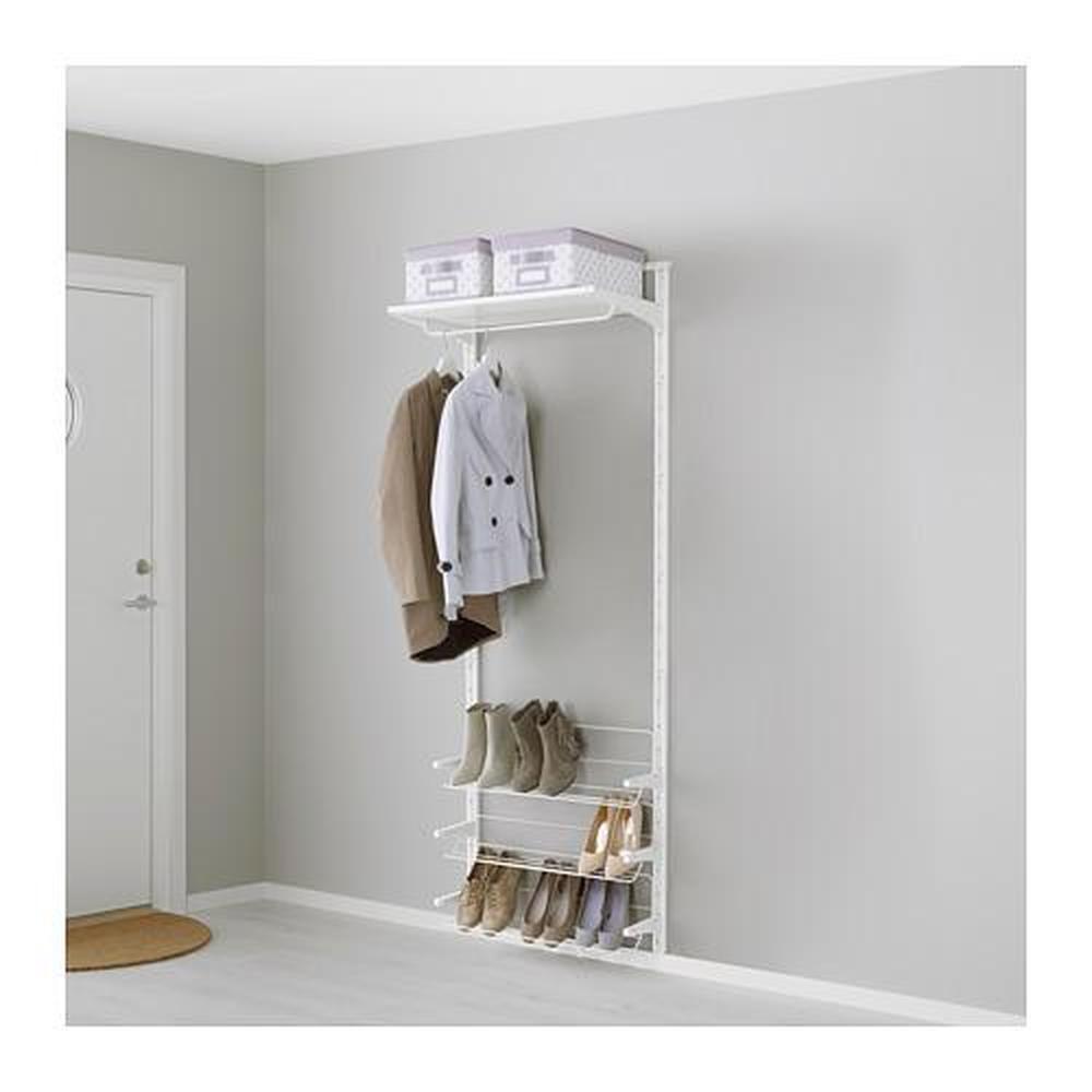 Binario Pensili Cucina Ikea algot binario / mensole / ripiano d / scarpa bianco 66x41x199 cm