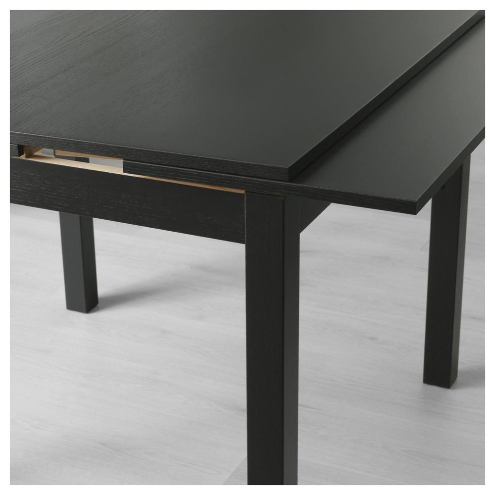 Tavolo Ikea Bjursta 90x90.Bjursta Tavolo Scorrevole Marrone Nero
