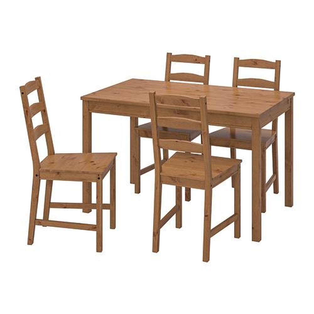 JOKKMOKK pöytä ja 4 jakkarat, antiikki (502.111.04