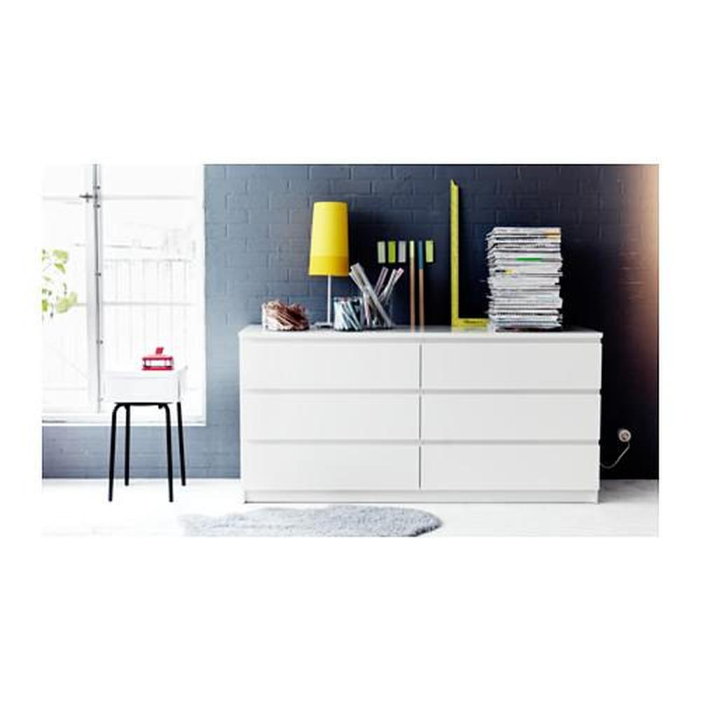 Ladenkast Wit Malm.Malm Ladekast Met 6 Laden Wit 160x78 Cm 502 145 55 Recensies