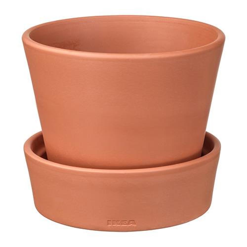 Vasi In Terracotta Per Giardino ingefÄra vaso da fiori con vassoio per giardino / terracotta 14 cm