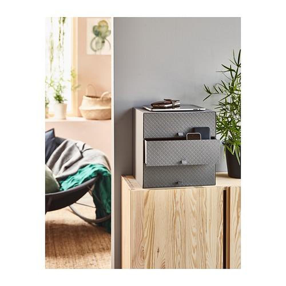 PALLRA mini dresser with 3 drawers dark gray