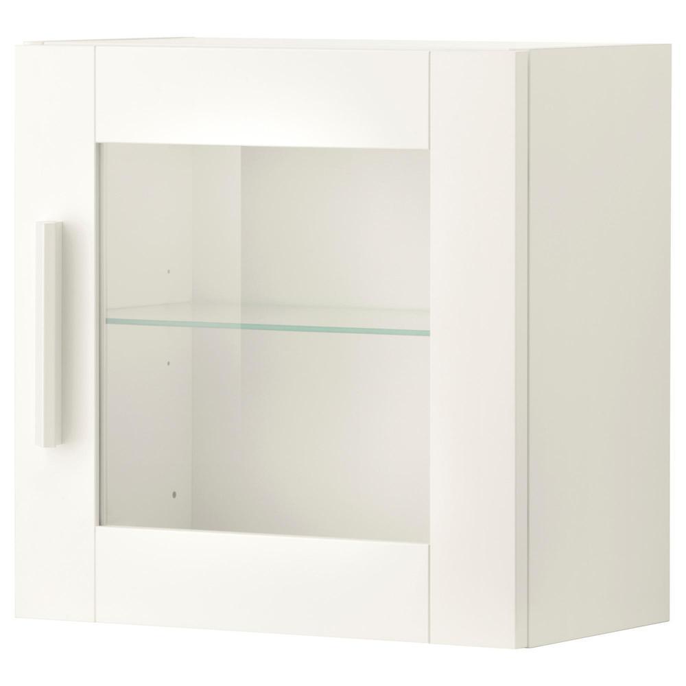 brymnes wandschrank mit glastür - weiß (503.006.52) - bewertungen