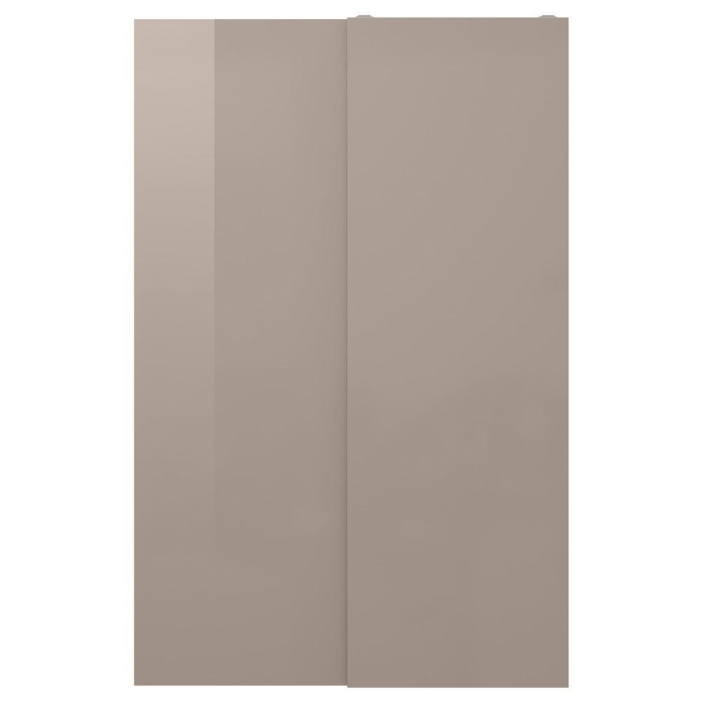 Istruzioni Montaggio Ikea Pax Ante Scorrevoli.Hasvik Coppia Di Porte Scorrevoli 150x236 Cm 503 440 19