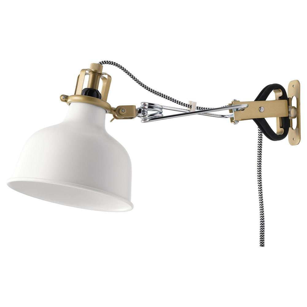 RANARP Väggmonterad spotlight lampa med klämma