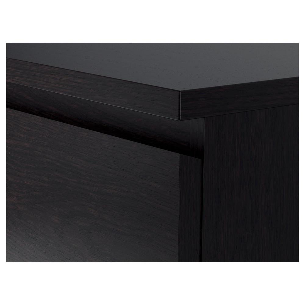 malme kommode mit 6 schubladen - schwarz und braun (503.685.95