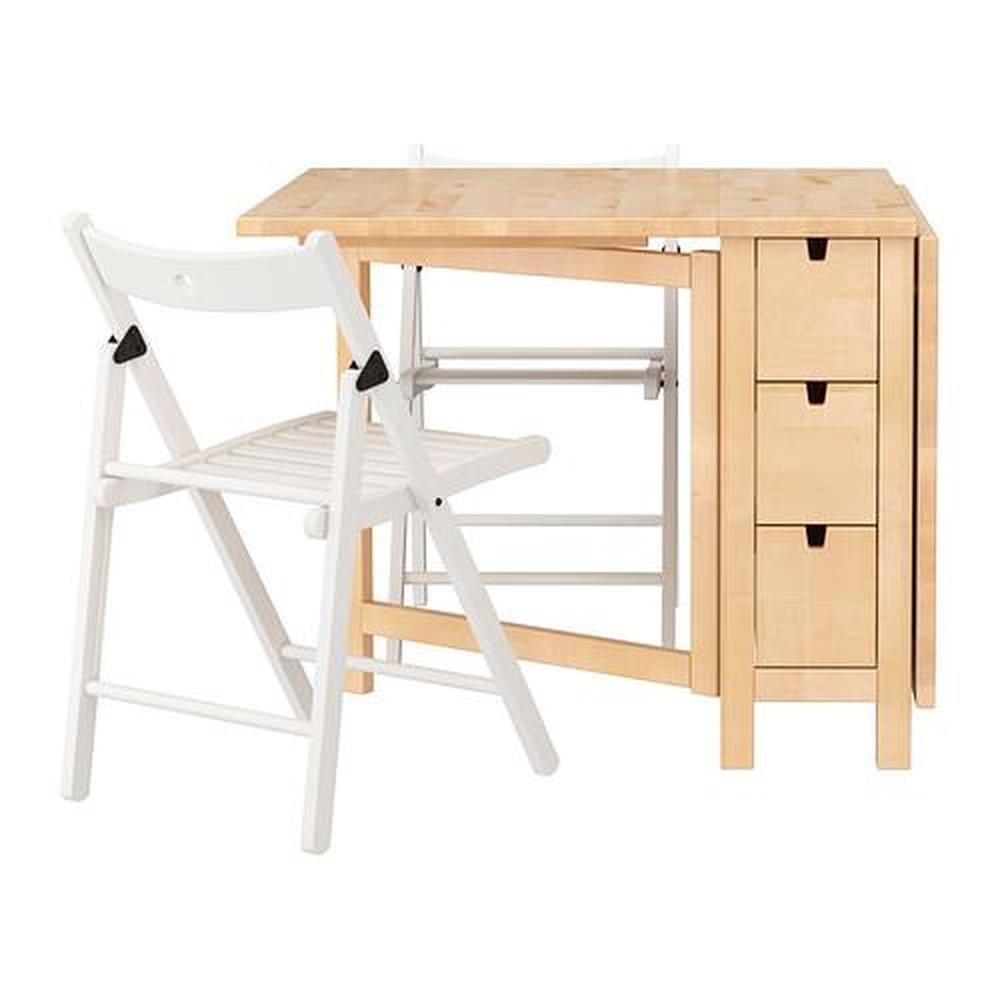Tavoli Pieghevoli Ikea Muro.Terje Norden Tavolo E Sedie 2 Betulla Bianco 89 Cm 590 973 59