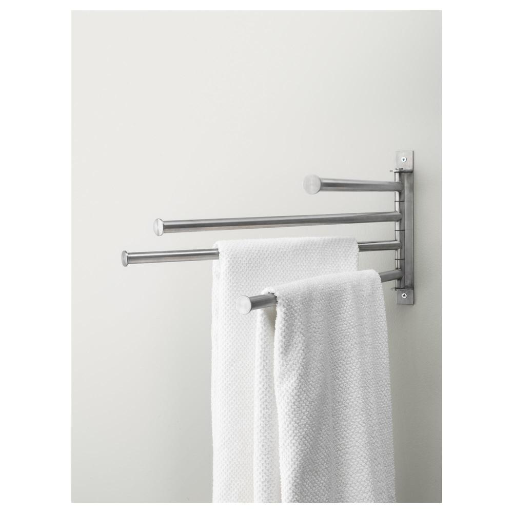 Fantastisk GRUNDTAL Hanger d / håndklær, 4 pereklad (600.478.96) - omtaler KQ-07