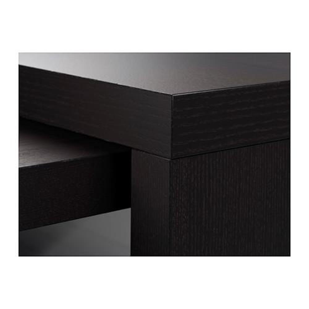 malm schreibtisch mit ausziehbarer platte schwarz braun 151x65 cm bewertungen. Black Bedroom Furniture Sets. Home Design Ideas