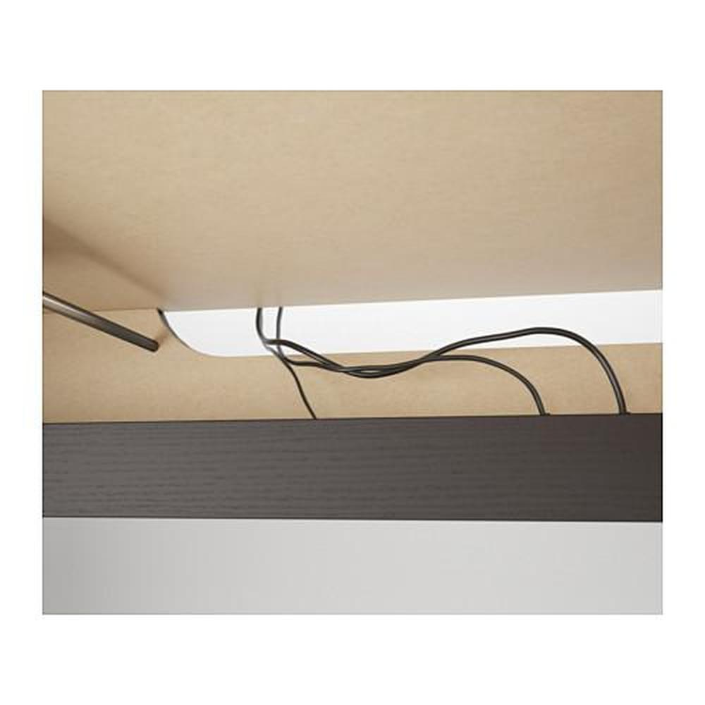 Malm Desk With Pull Out Panel Black Brown 151x65 Cm 60214183