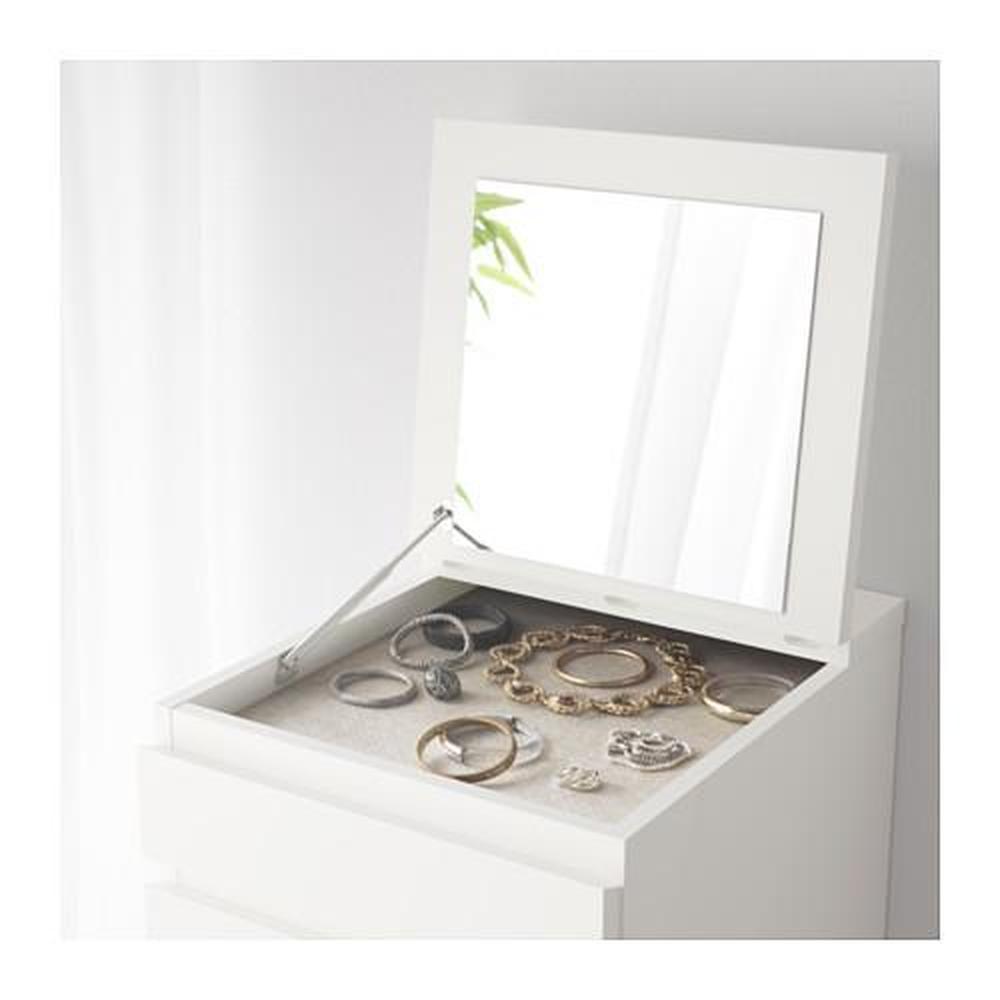 Cassettiera Con Specchio Ikea.Dresser Malm Con Cassetti 6 Bianco Vetro Specchio 602 180 15