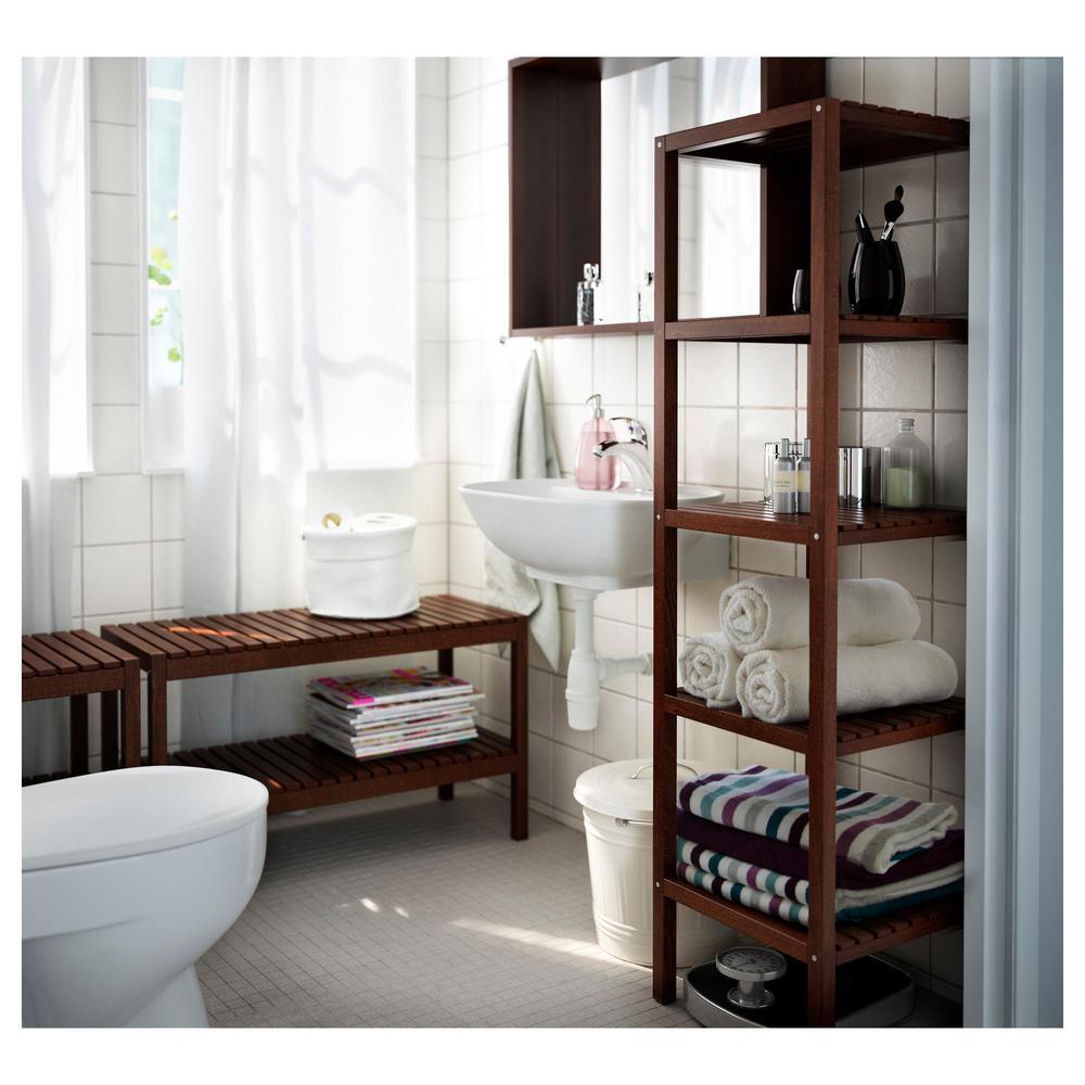 Panca molger marrone scuro recensioni for Ikea panca bagno
