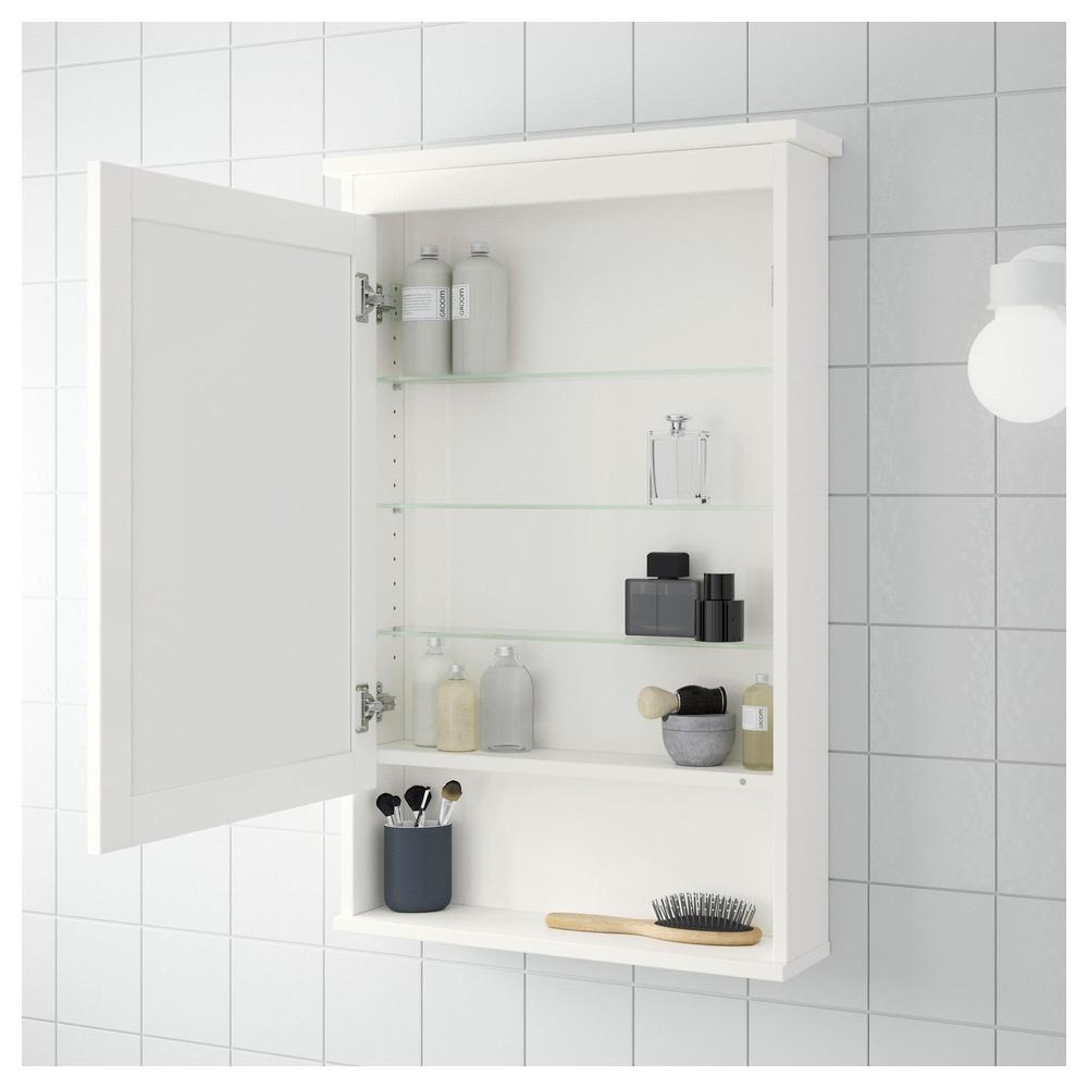 HEMNES Spiegelschrank mit 1 Tür - weiß (603.690.14) - bewertungen ...