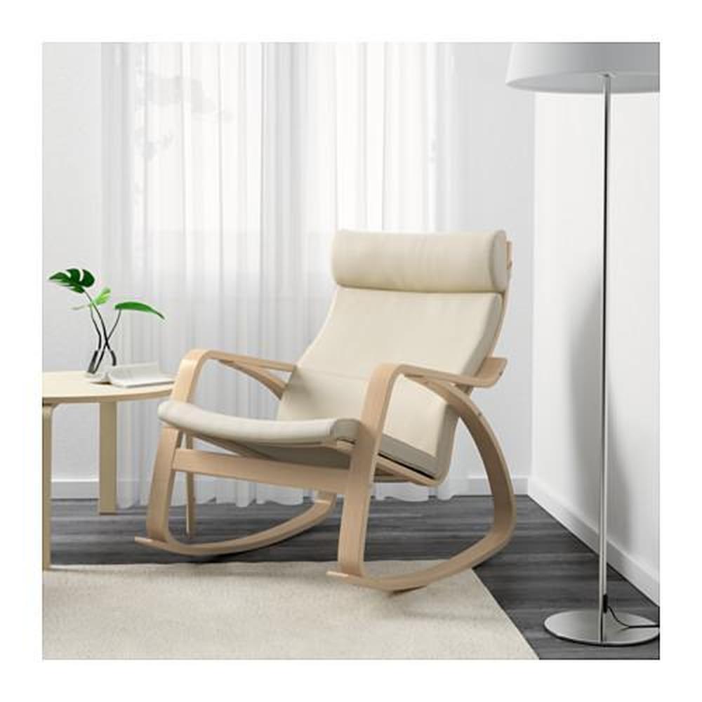 bouleau fauteuil bascule beige clair à POÄNG en Glose plaqué HWD2I9E