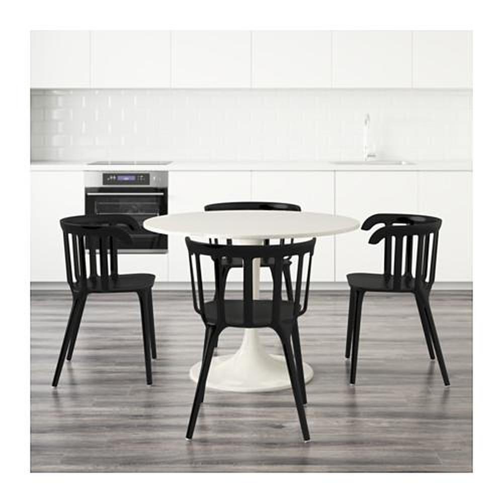 Docksta Ikea Ps 2012 Tisch Und 4 Stuhl Weiss Schwarz 699 320