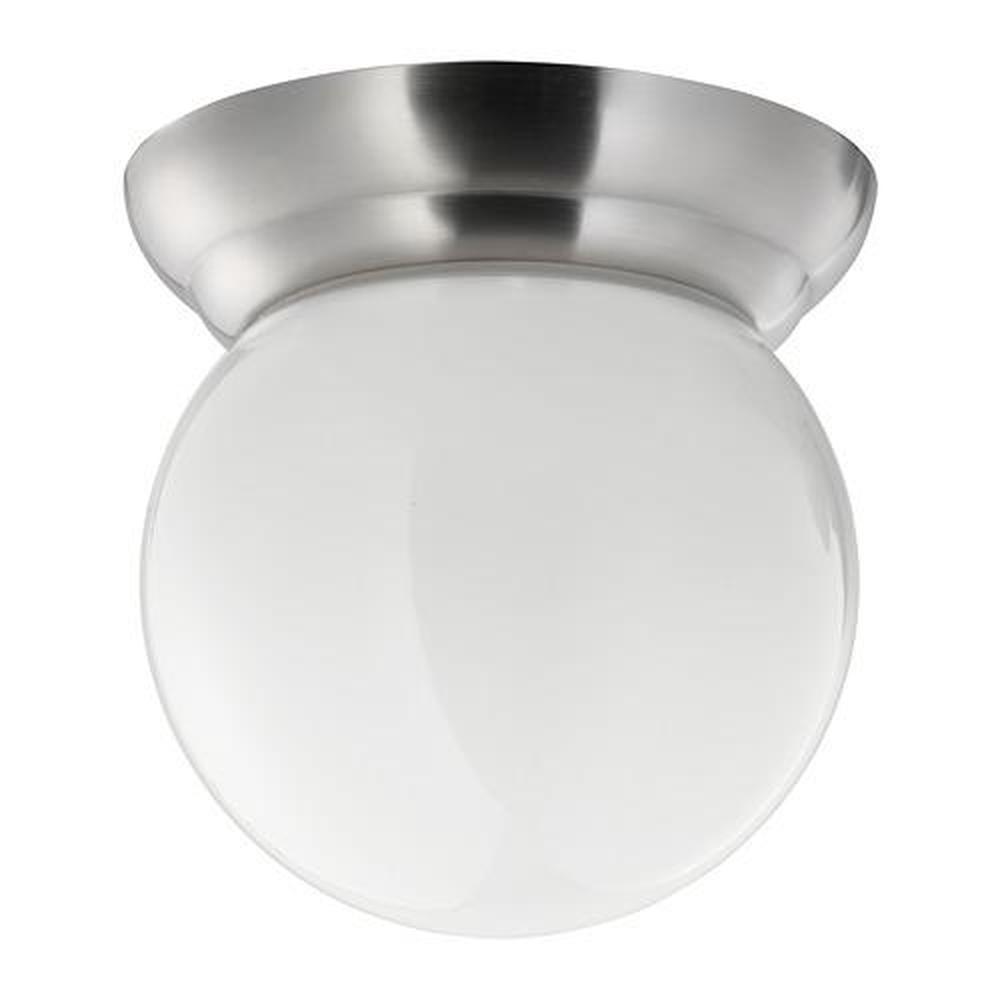 Applique Ikea Da Interno lillholmen lampadario / applique nichelato / bianco