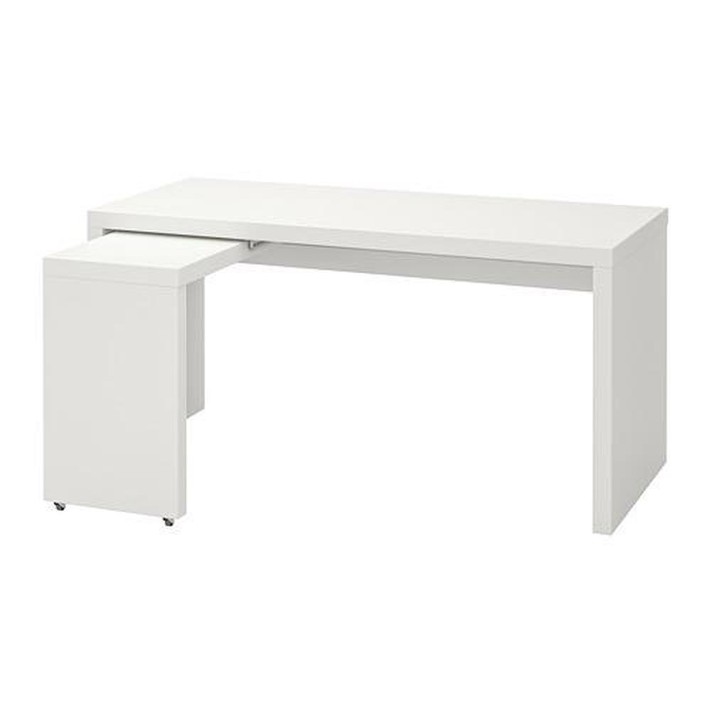 Scrivania Con Cassettiera Ikea scrivania malm con cassetto bianco 151x65x73 cm