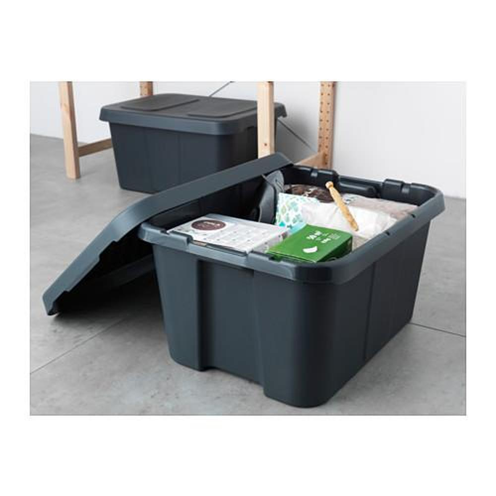 Klemtare container with lid house garden 58x45x30 cm reviews price where - Ikea container home ...