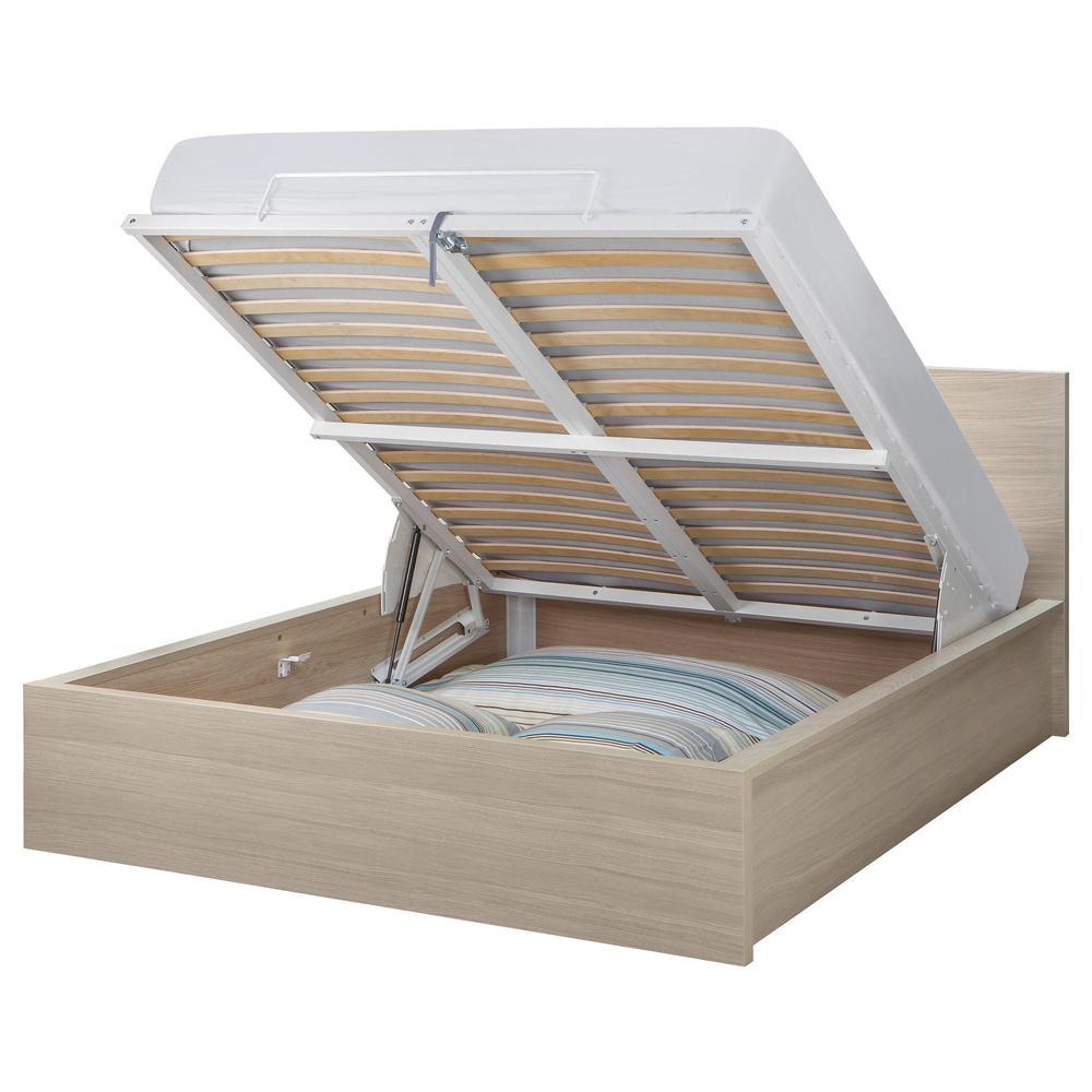 Malm bed nostomekanismi tammiviilu valkaistut 140x200 cm arvosteluja hinta - Ikea malm letto contenitore ...