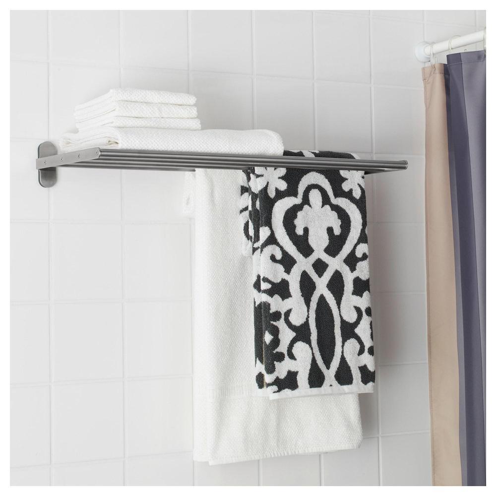Svært BROGRUND Suspendert hylle med stang d / håndklær (703.497.56 BR-38