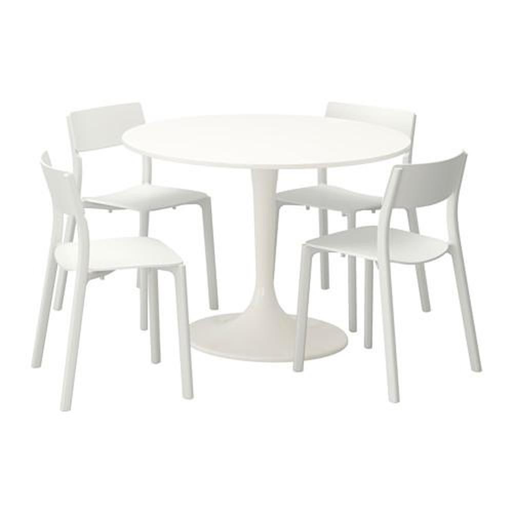 Meja Docksta Janinge Dan Kerusi 4 Putih Putih 105 Cm 792 297 97 Ulasan Harga Di Mana Untuk Membeli