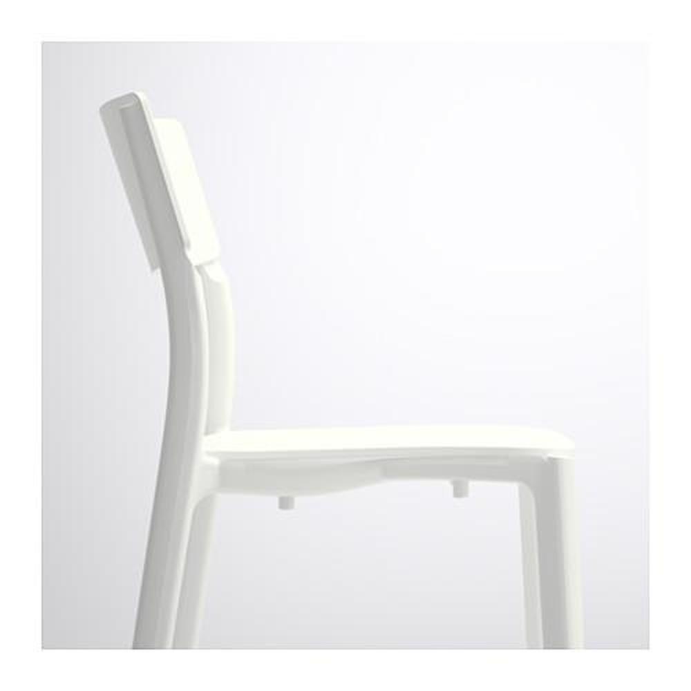 Tavolo DOCKSTA JANINGE e sedia 4 bianco bianco 105 cm