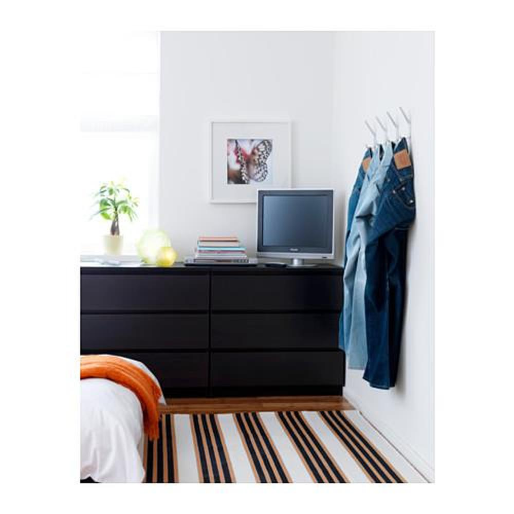 Malm Ladekast Ikea 3 Laden.Malm Ladekast Met 3 Laden Zwartbruin 80x78 Cm 801 033 44