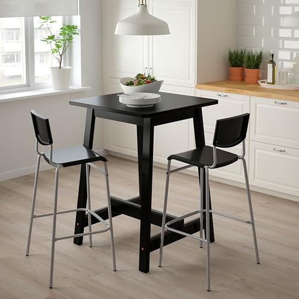 STIG barstol svart silver 60x50x100 cm