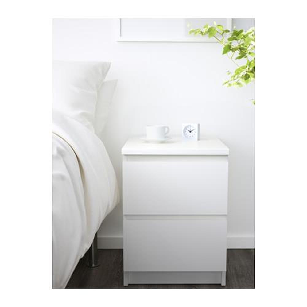 Ladenkast Wit Malm.Malm Ladekast Met 2 Laden Wit 40x55 Cm 802 145 49 Recensies
