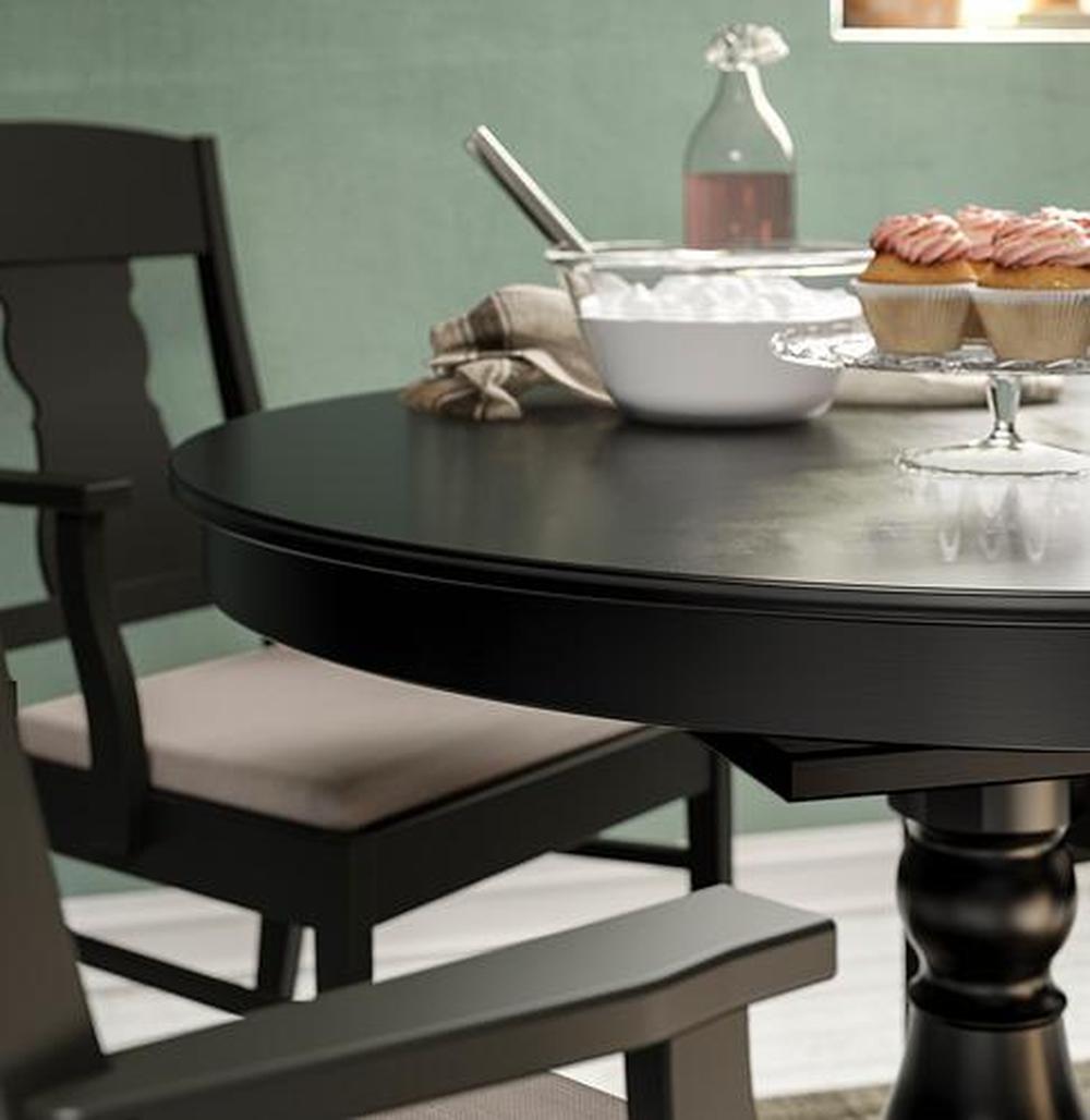 BJURSTA utdragbar bord brun svart (301.162.64) recensioner