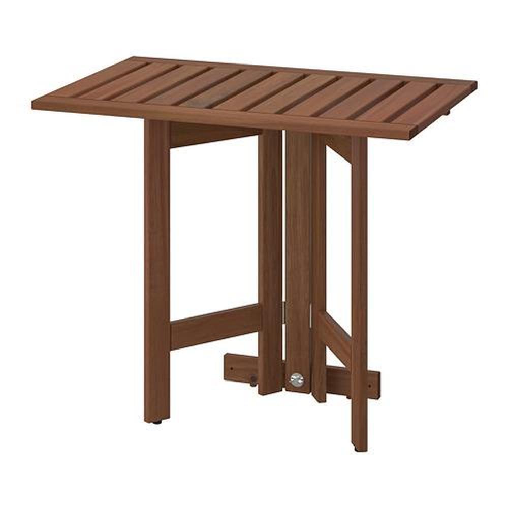 Tavolo Ribaltabile A Parete ÄpplarÖ tavolo pieghevole / supporto a parete, per giardino marrone  mordente 56x72 cm