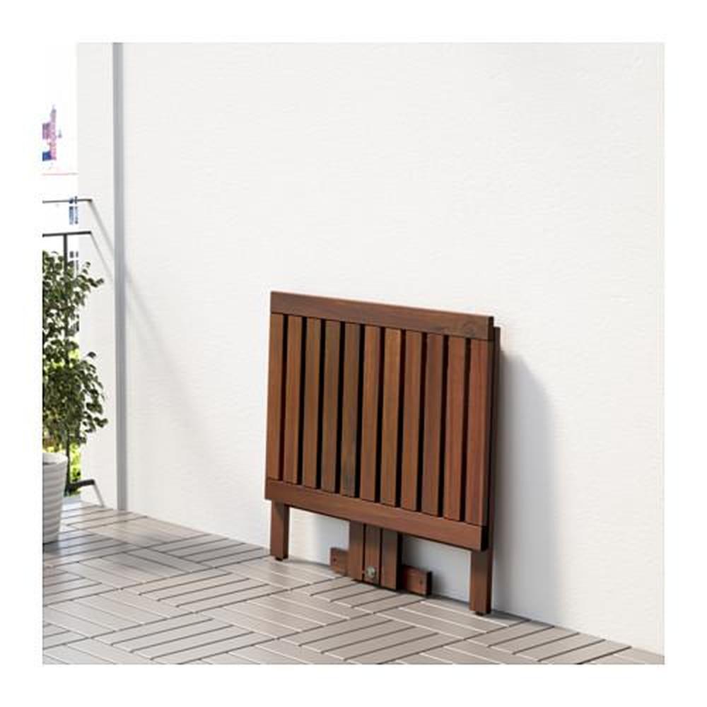 ępplarö Składany Stolik Mocowanie Do ściany D Bejca Ogrodowa 80x56 Cm