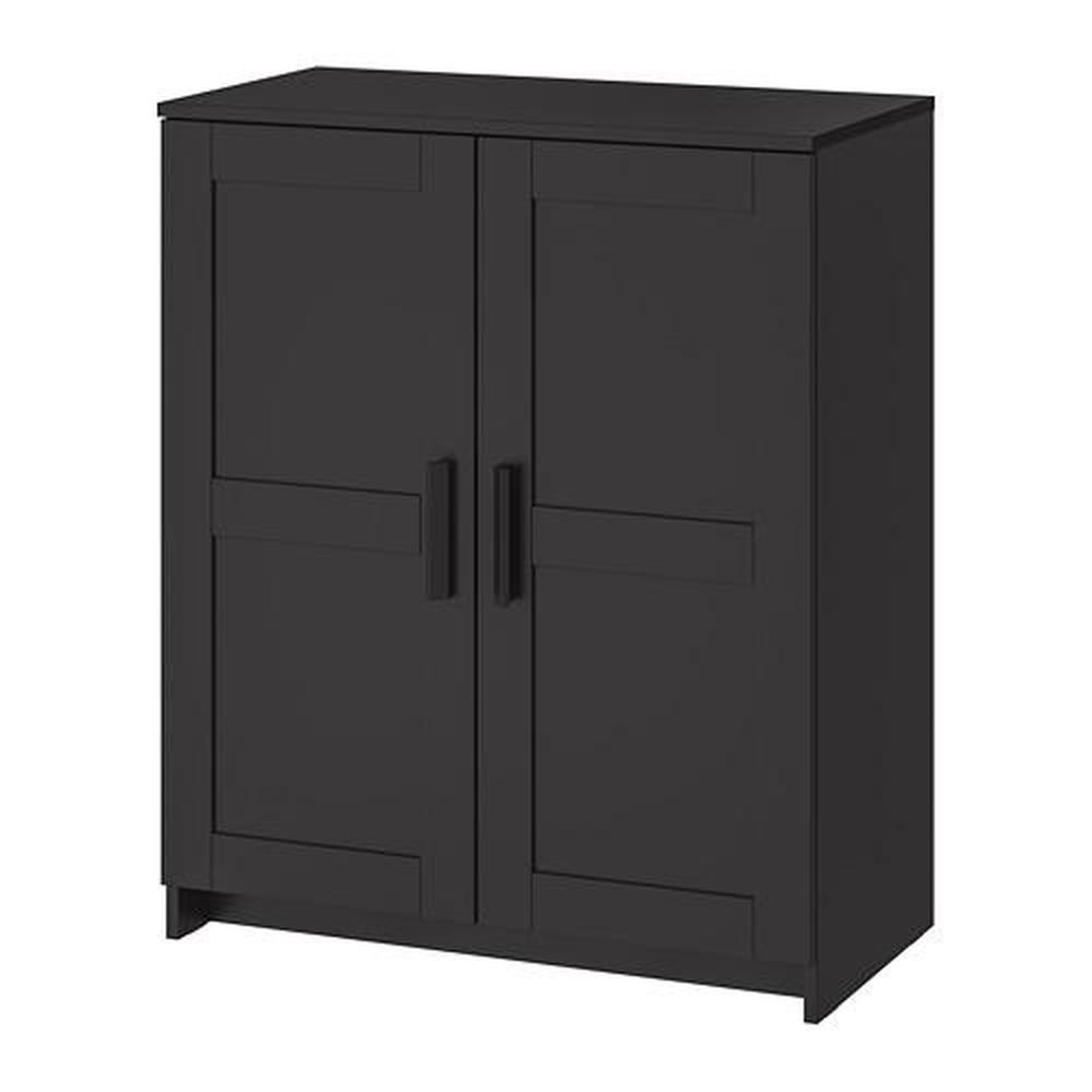 brymnes schrank mit t ren schwarz. Black Bedroom Furniture Sets. Home Design Ideas