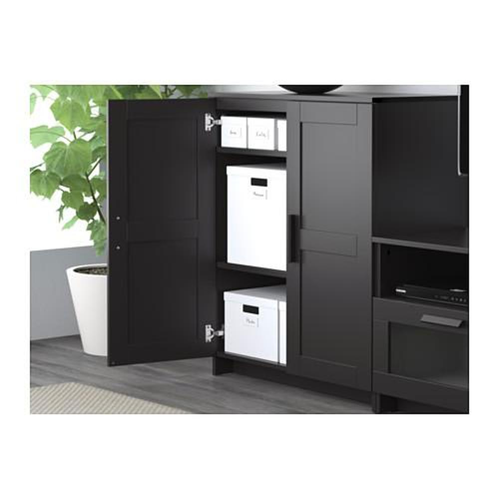 brymnes schrank mit t ren schwarz bewertungen preis wo kaufen. Black Bedroom Furniture Sets. Home Design Ideas