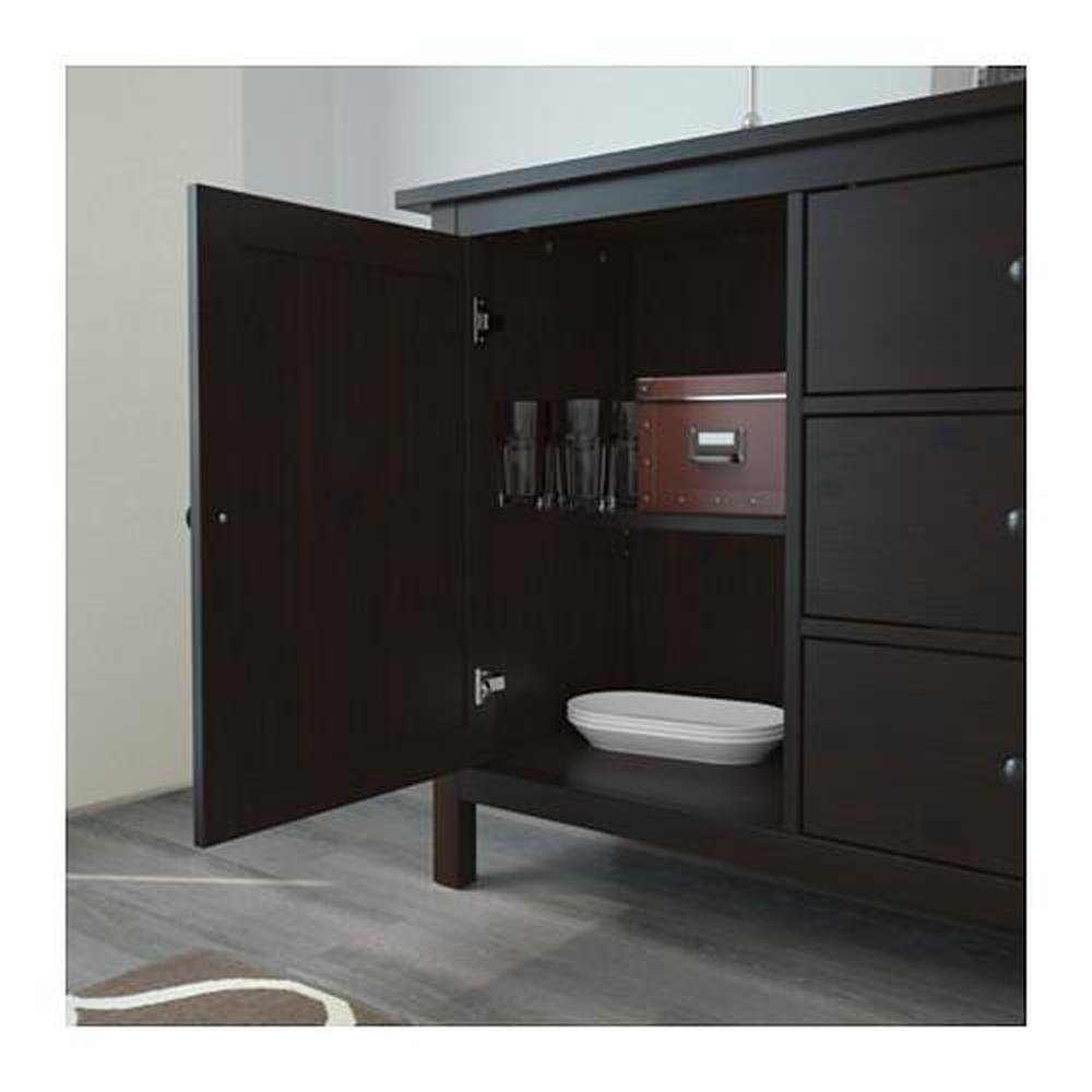 Hemnes Sideboard Black Brown 803 092 55 Reviews Price