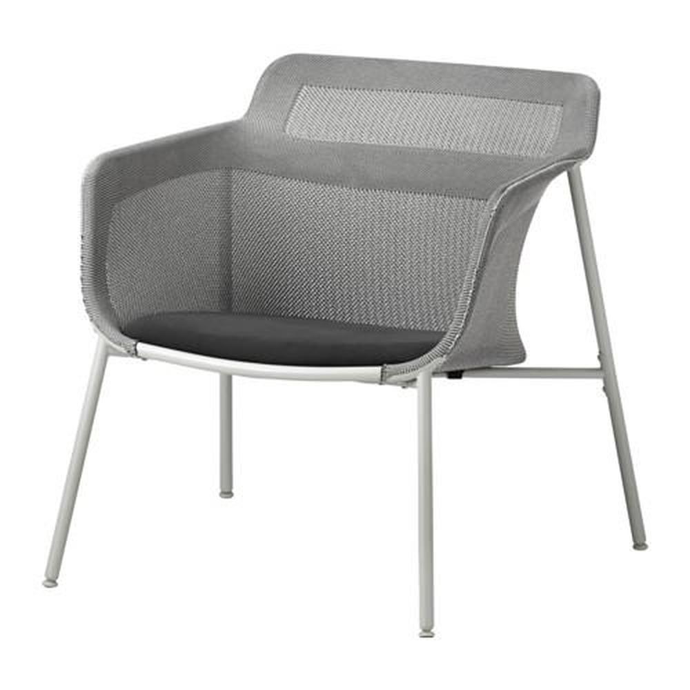 NOLMYRA Fåtölj, björkfaner, grå IKEA
