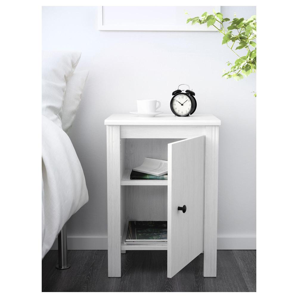 Comodino Ikea Bianco.Tavolo Brusali Comodino Bianco