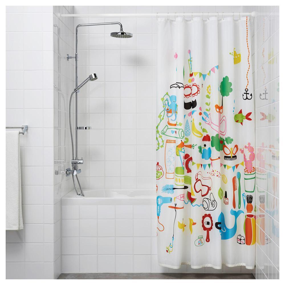 BOTAREN barra para la cortina en el baño blanco (903.149 ...