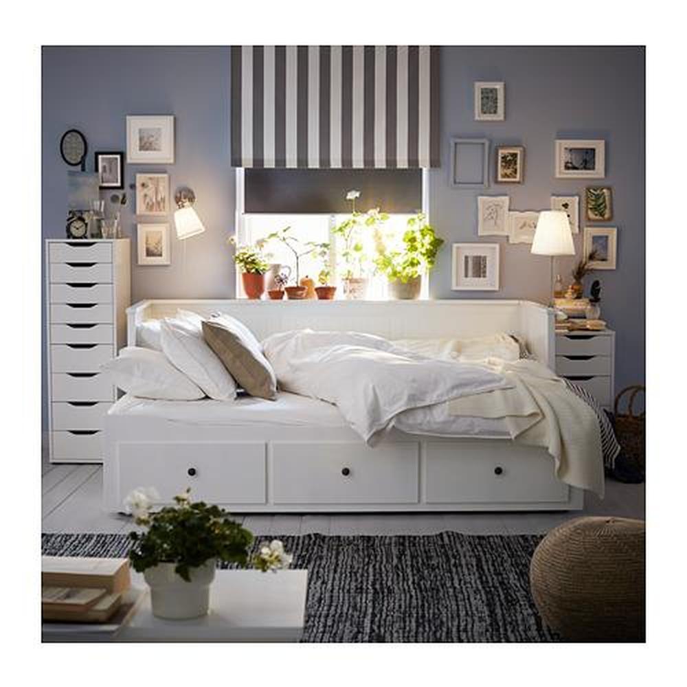 Ikea Hemnes Divano Letto.Divano Letto Hemnes Con Contenitore 3 Rigido Bianco