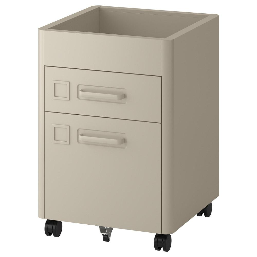 Idoen Cabinet With Drawers On Wheels Beige 903 609 60