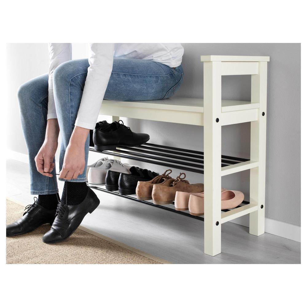 hemnes bench with shelf for shoes