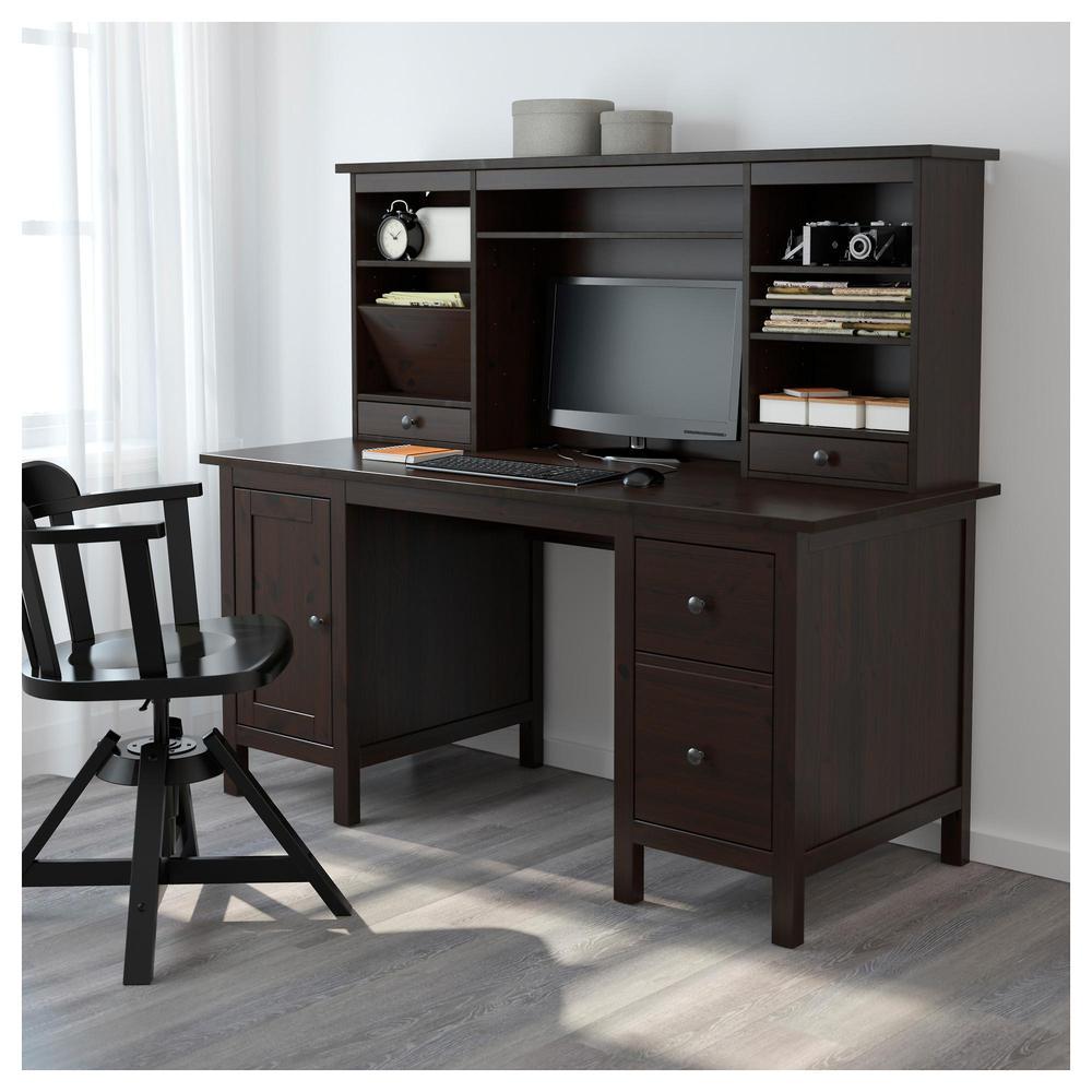 Hemnes scrivania con modulo aggiuntivo nero e marrone recensioni prezzo dove - Ikea hemnes scrivania ...