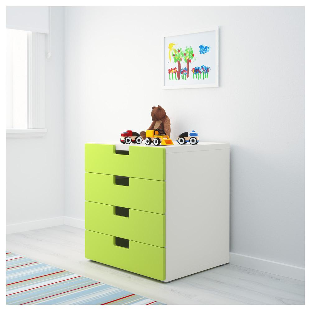 Stuva Combination For Storage With Drawers White Green