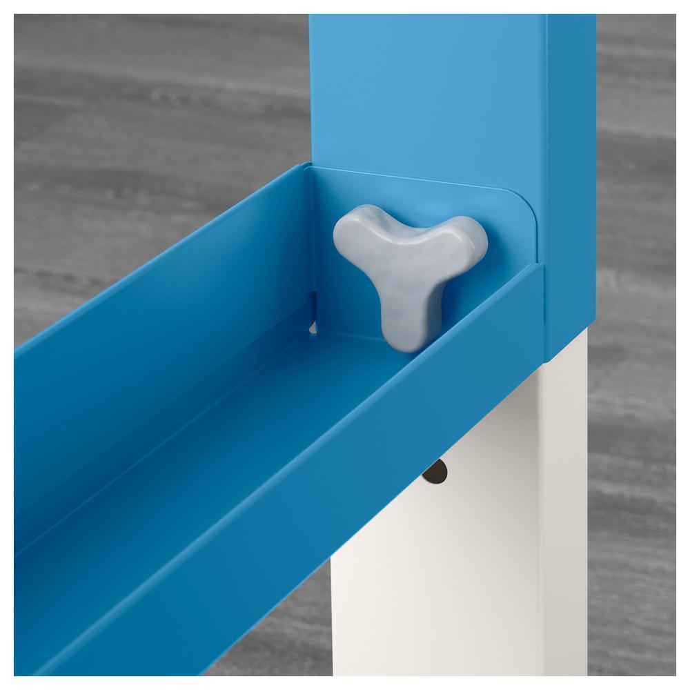 POLY íróasztal kiegészítő modullal fehér kék (091.289.66