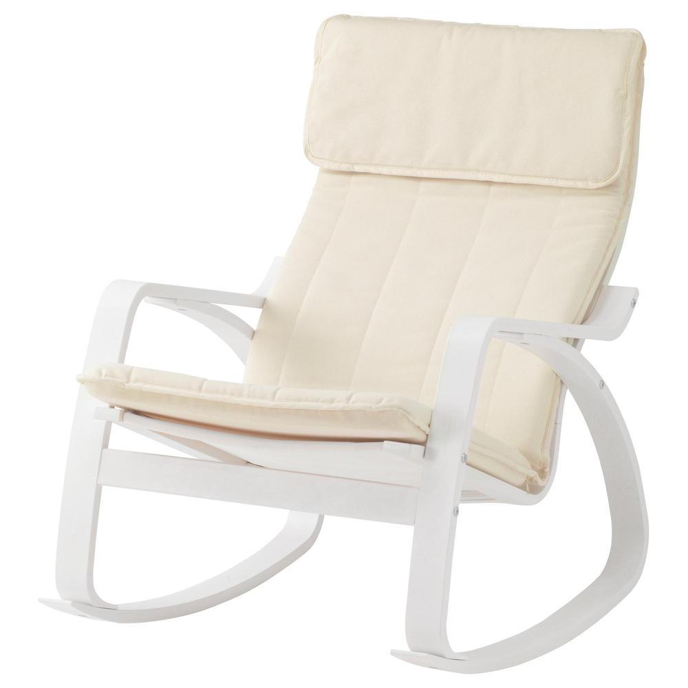 Poeng chaise à bascule - Ransta non peinte, sans tache Ransta
