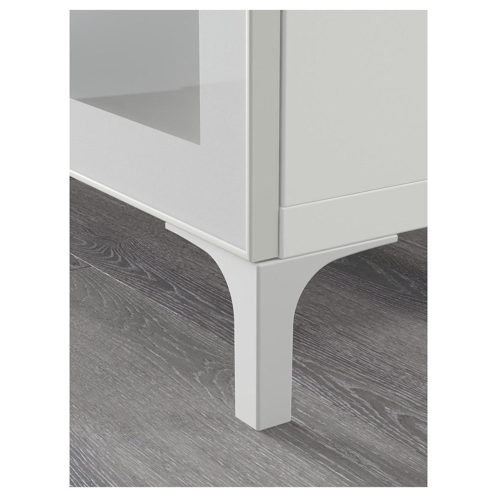 Mobile tv best combinato porta di vetro bianco selsviken lucido vetro smerigliato - Guide per cassetti ikea ...